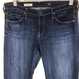AG The Stilt Cigarette Blue Jeans Size 30R